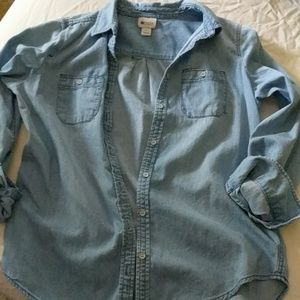 Womens Denim Button Down Size Small